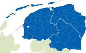 Je kunt een afspraak maken in Friesland, Groningen of Drenthe